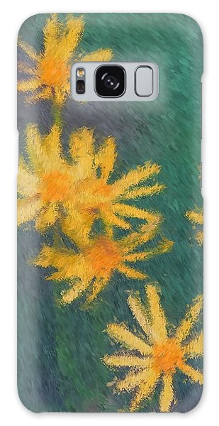 Impressionist Yellow Wildflowers Galaxy Case
