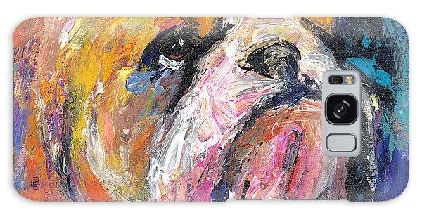 Impressionistic Bulldog Painting Galaxy Case