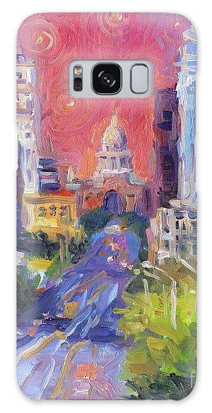 Impressionistic Downtown Austin City Painting Galaxy Case
