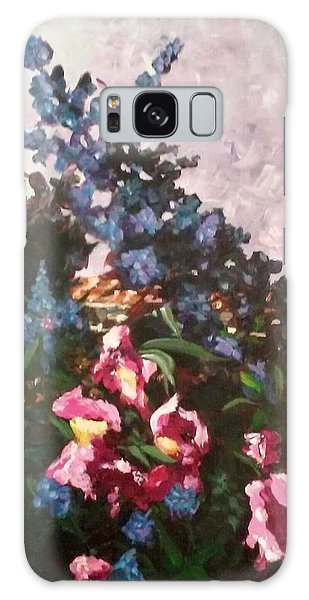 Impressionistic Flowers Galaxy Case