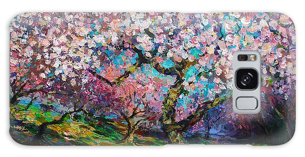 Impressionistic Spring Blossoms Trees Landscape Painting Svetlana Novikova Galaxy Case