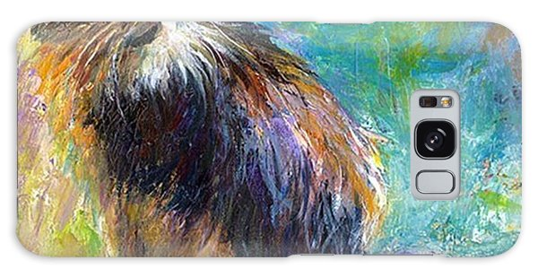 Impressionistic Tuxedo Cat Painting By Galaxy Case
