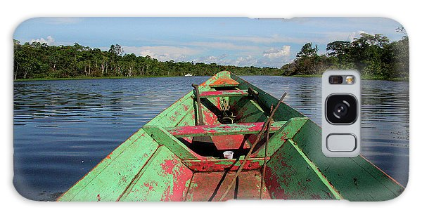 In A Wooden Boat On The Amazon Galaxy Case