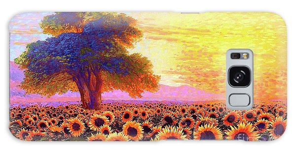 In Awe Of Sunflowers, Sunset Fields Galaxy Case
