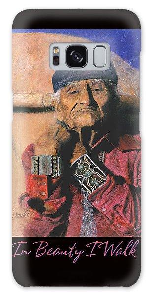 In Beauty I Walk - Original Pastel - Native American Galaxy Case