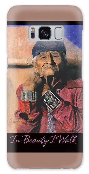 In Beauty I Walk - Original Pastel - Navajo Medicine Man Galaxy Case