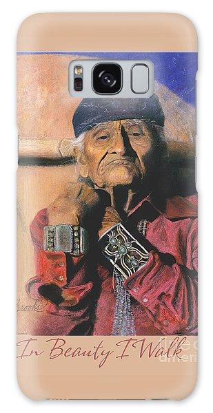In Beauty I Walk 2 - Pastel Art - Native American Galaxy Case