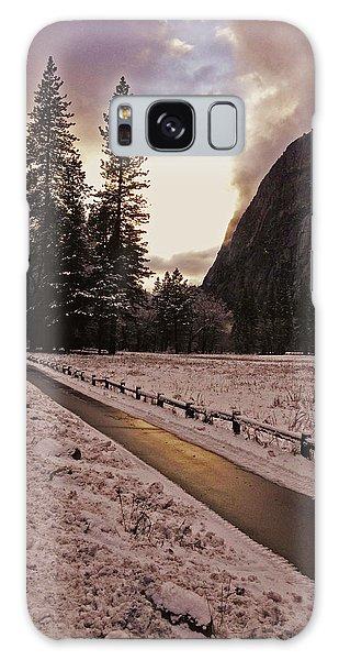 In Between Snow Falls Galaxy Case by Walter Fahmy
