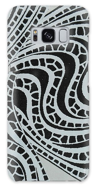 In Black And White Galaxy Case