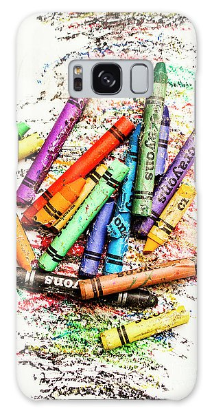 In Colours Of Broken Crayons Galaxy Case by Jorgo Photography - Wall Art Gallery