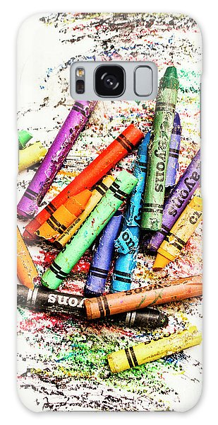 In Colours Of Broken Crayons Galaxy Case
