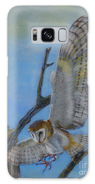 In Flight Barn Owl Galaxy Case