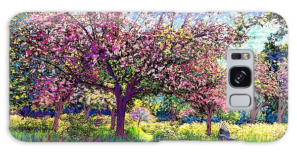 Blossoms Galaxy Case - In Love With Spring, Blossom Trees by Jane Small
