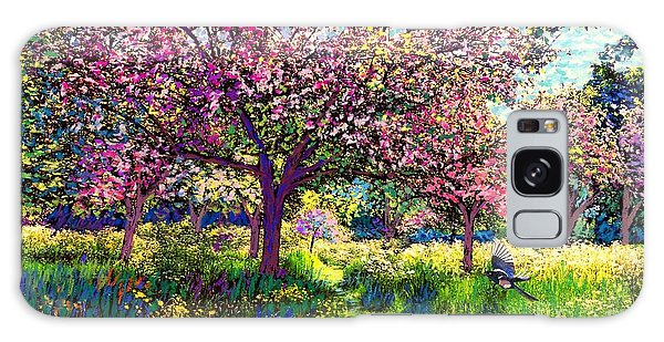 Daisy Galaxy Case - In Love With Spring, Blossom Trees by Jane Small