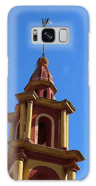 In Mexico Bell Tower Galaxy Case by Cathy Anderson