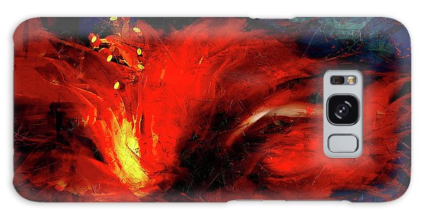 Hibiscus Galaxy Case - In Red Abstract Hibiscus by Shanina Conway