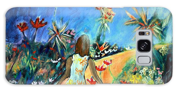 Galaxy Case featuring the painting In The Garden Of Joy by Winsome Gunning