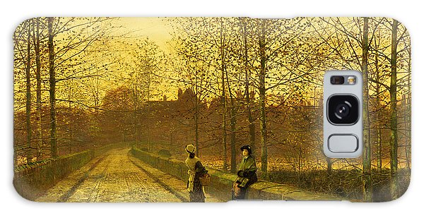 English Galaxy Case - In The Golden Gloaming by John Atkinson Grimshaw