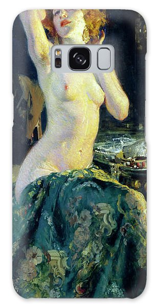 Sitting Nude Galaxy Case - In The Mirror by Giacomo Grosso