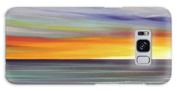 In The Moment Panoramic Sunset Galaxy Case