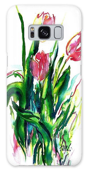In The Pink Tulips Galaxy Case