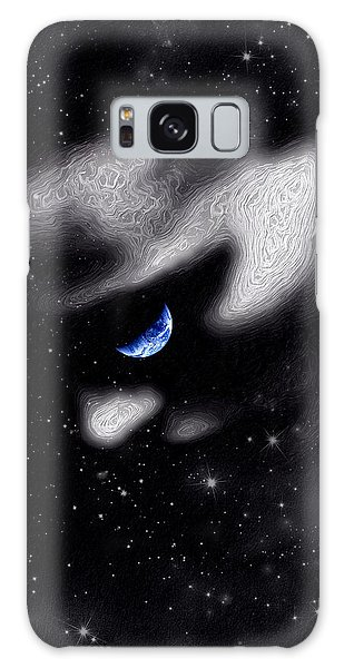 Galaxy Case featuring the digital art In The Quiet Of Your Mind by ISAW Company