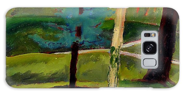 In The Rough Blue Spruce Plein Air Galaxy Case by Charlie Spear