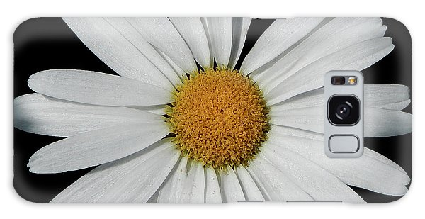 In The Spotlight White Daisy Galaxy Case