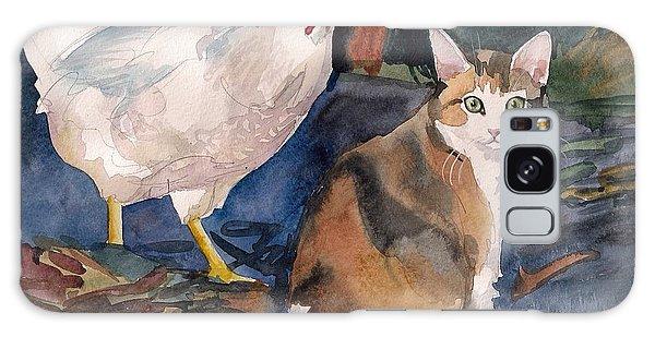 Calico Cat Galaxy Case - In The Yard by Yuliya Podlinnova
