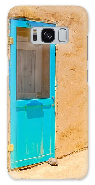 In Through The Blue Door Galaxy Case