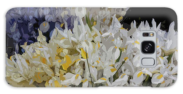 Galaxy Case - Incredible Irises - Cutout by Suzanne Gaff