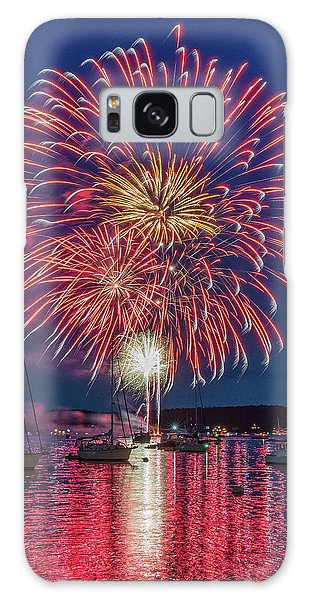 Independence Day Fireworks In Boothbay Harbor Galaxy Case