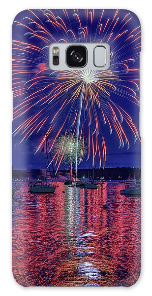 Galaxy Case featuring the photograph Independence Day In Boothbay Harbor by Rick Berk
