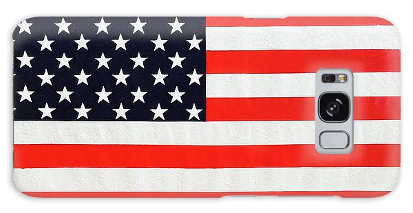Independence Day Large Scale Oil On Canvas Original Landscape American Flag United States Flag Galaxy Case