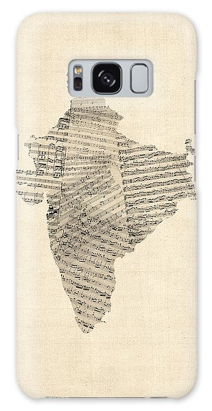 India Map, Old Sheet Music Map Of India Galaxy Case