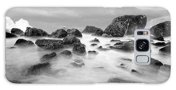 Indian Beach, Ecola State Park, Oregon, In Black And White Galaxy Case