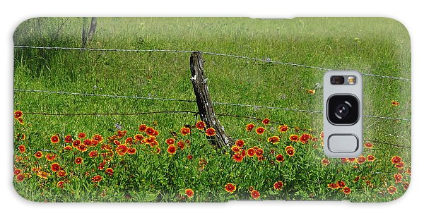 Indian Blanket Fence Galaxy Case