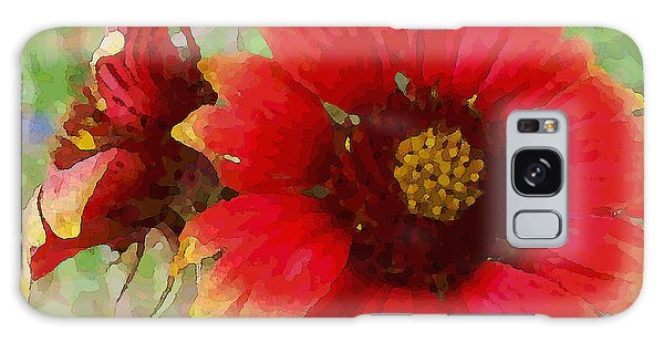 Galaxy Case featuring the digital art Indian Blanket Flowers by Shelli Fitzpatrick
