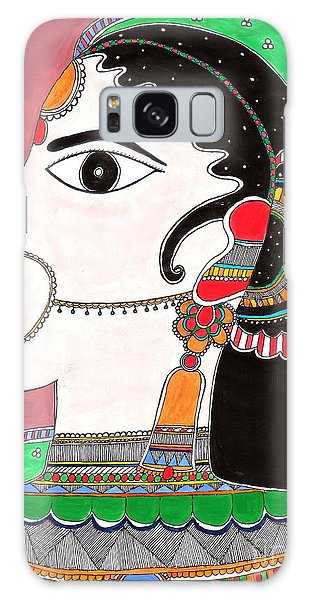 Madhubani Galaxy Case - Indian Bride -colored Version by Vertikaa Singh
