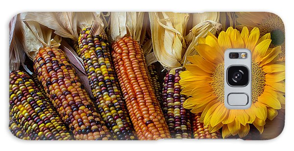 Indian Corn Galaxy Case - Indian Corn And Sunflowers by Garry Gay
