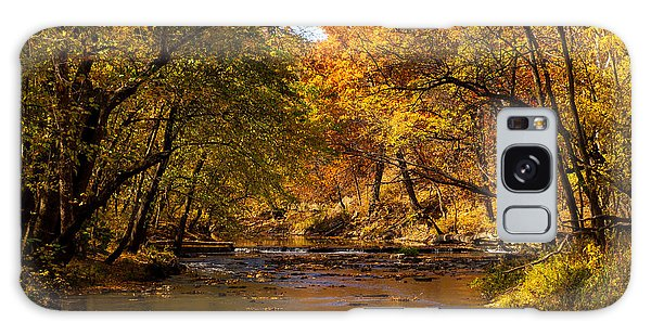 Indian Creek In Fall Color Galaxy Case