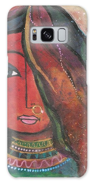 Indian Girl With Nose Ring Galaxy Case