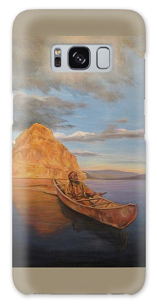 Indian On Lake Pyramid Galaxy Case