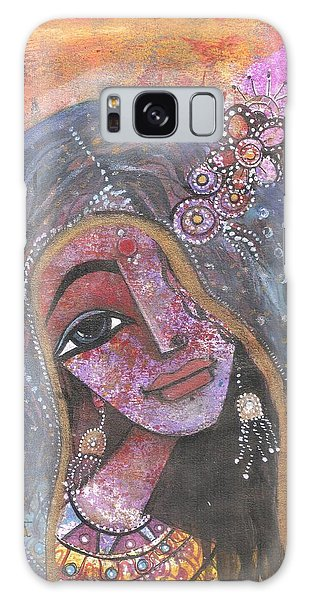 Indian Rajasthani Woman With Colorful Background  Galaxy Case
