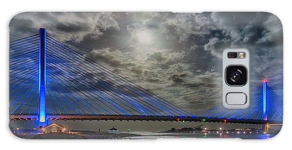 Indian River Bridge Moonlight Panorama Galaxy Case by Bill Swartwout