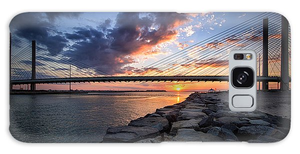 Indian River Inlet And Bay Sunset Galaxy Case