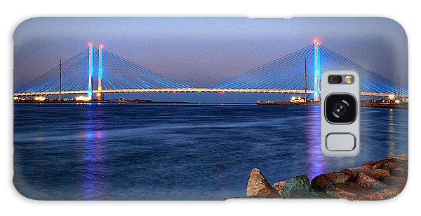 Indian River Inlet Bridge Twilight Galaxy Case by Bill Swartwout