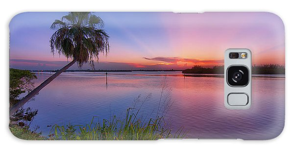 Indian River State Park Bursting Sunset Galaxy Case by Justin Kelefas