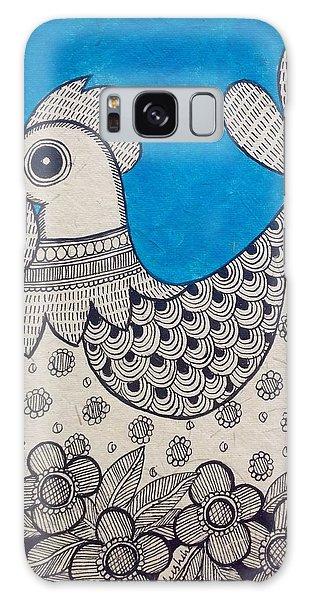 Madhubani Galaxy Case - Indian Rooster  by Vidushini  Prasad