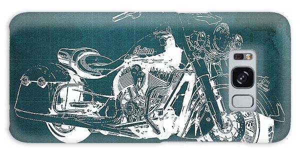Blueprint Galaxy Case - Indian Springfield 2016 Blueprint Art Vintage Background by Drawspots Illustrations